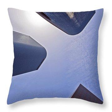 Architectural Bunker Hill Financial District Throw Pillow by David Zanzinger