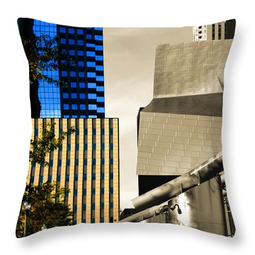 Architectural Crumpled Steel Gehry Throw Pillow