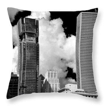 Architectural Diversity Houston Tx Throw Pillow by Christine Till