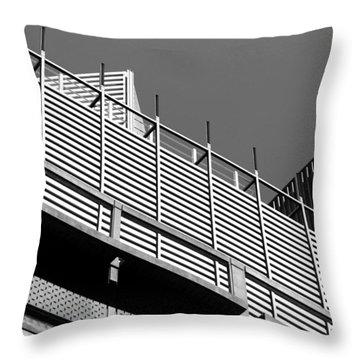 Architectural Lines Black White Throw Pillow
