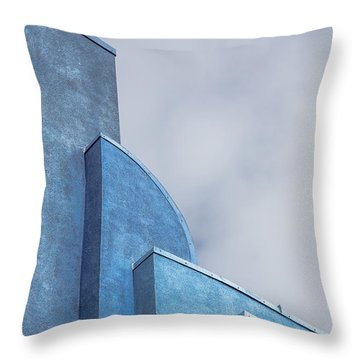 Throw Pillow featuring the photograph Architecture In Blue by Susan Leonard