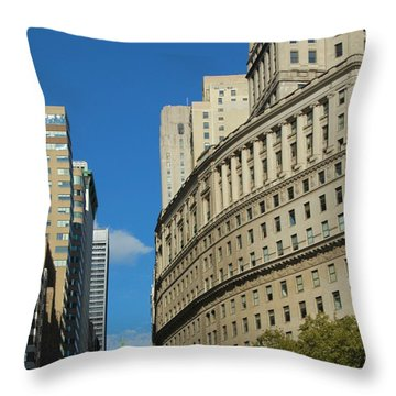 Architecture In New York City Throw Pillow