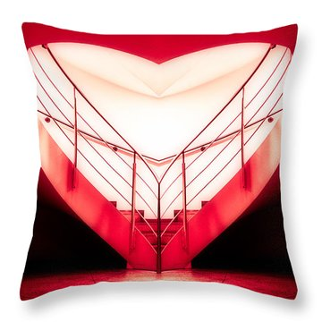 architecture's valentine - redI Throw Pillow by Hannes Cmarits