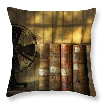 Archives Throw Pillow by Susan Candelario