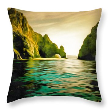 Archway At Cabo Digital Throw Pillow