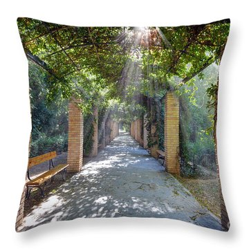 Archway Throw Pillow by George Atsametakis
