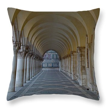Archway In Piazza San Marco Throw Pillow by Rita Mueller
