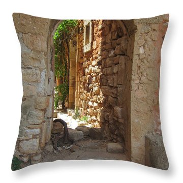 Throw Pillow featuring the photograph Archway by Pema Hou