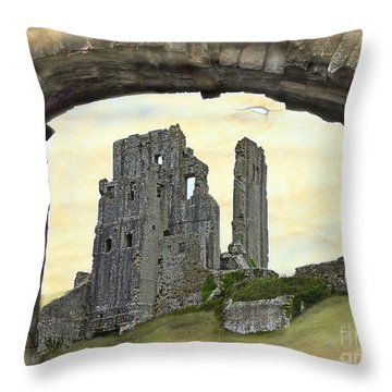 Archway To History Throw Pillow
