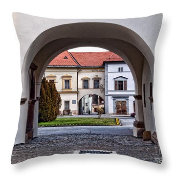 Archways Throw Pillow by Les Palenik