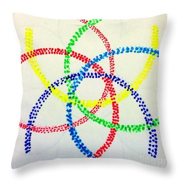 Arcs Throw Pillow by Rrrose Pix