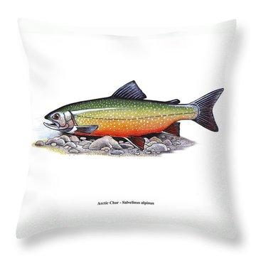 Arctic Char Male Throw Pillow