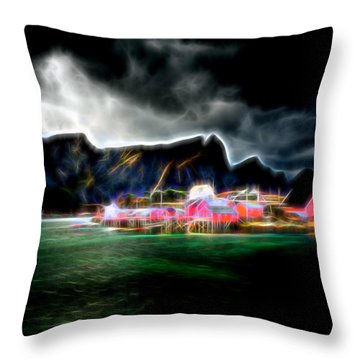 Arctic Electric Throw Pillow