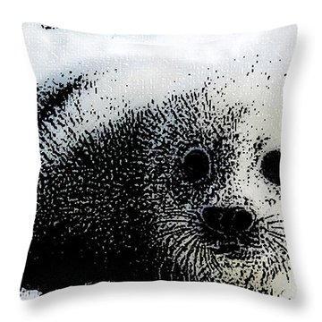 Arctic Treasure Throw Pillow by Shere Crossman