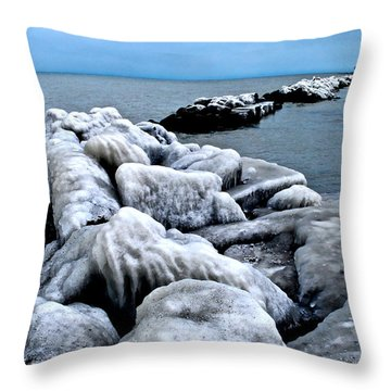 Arctic Waters Throw Pillow by Frozen in Time Fine Art Photography