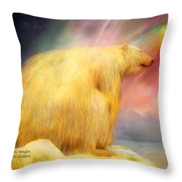 Arctic Wonders Throw Pillow by Carol Cavalaris