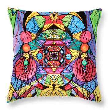 Arcturian Ascension Grid Throw Pillow