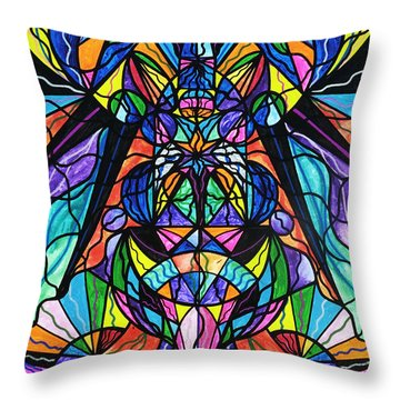 Arcturian Awakening Grid Throw Pillow by Teal Eye  Print Store