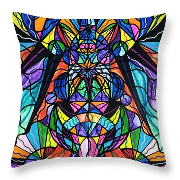 Arcturian Awakening Grid Throw Pillow