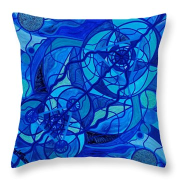 Arcturian Calming Grid Throw Pillow