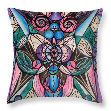 Arcturian Healing Lattice  Throw Pillow