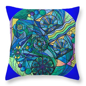 Arcturian Immunity Grid Throw Pillow