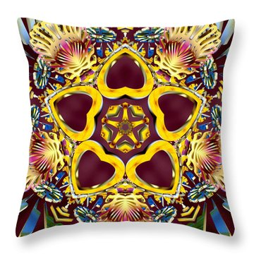 Arcturian Starseed Throw Pillow by Derek Gedney