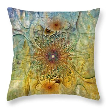 Are There Faces Throw Pillow by Deborah Benoit
