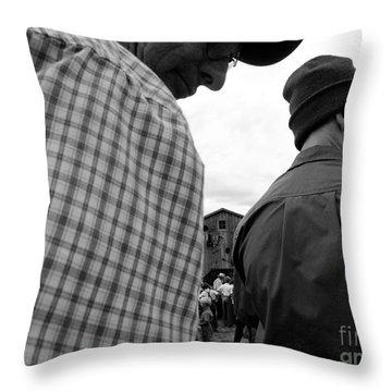 Are We Blocking Your View ? Throw Pillow by Tina M Wenger