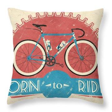 Bicycling Throw Pillows