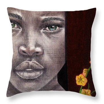 Are You Serious? Throw Pillow by Edith Peterson-Watson