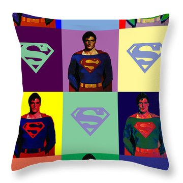 Are You Super? Throw Pillow by Saad Hasnain