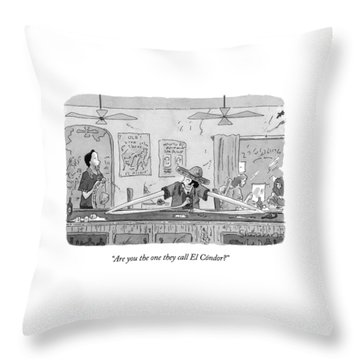 Are You The One They Call El Condor? Throw Pillow