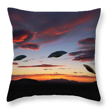 Area 51 Fly Zone Throw Pillow
