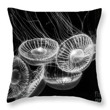 Area 51 - Moon Jellies Aurelia Labiata Throw Pillow