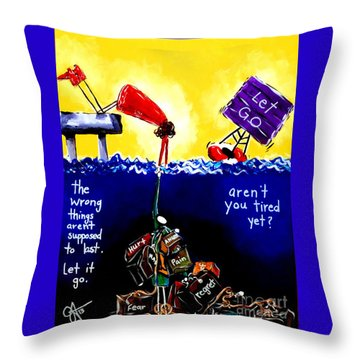 Aren't You Tired Yet? Throw Pillow by Jackie Carpenter