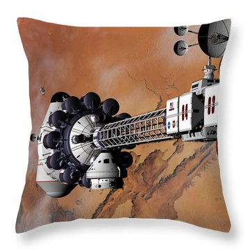 Ares1 Captured Over Valles Marineris Throw Pillow