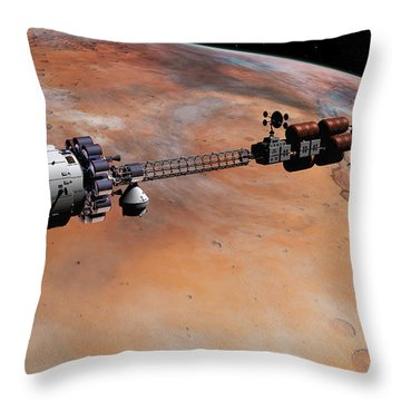 Ares1 Release Throw Pillow
