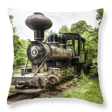 Throw Pillow featuring the photograph Argent Lumber Company Engine No. 4 - Antique Steam Locomotive by Gary Heller