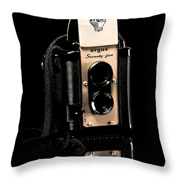 Argus 75 Throw Pillow by Lawrence Burry