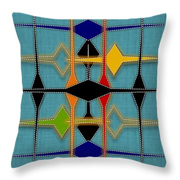 Argyle Re-make Throw Pillow