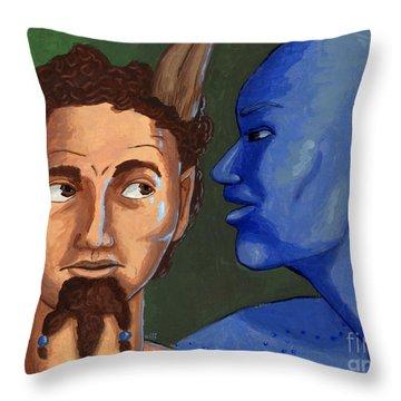 Ariel And Caliban Throw Pillow