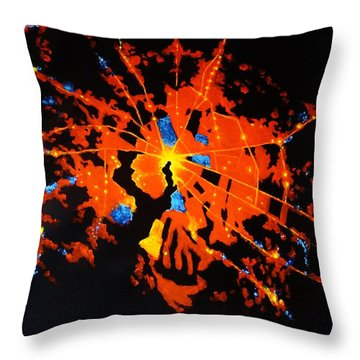 Aerial View Of Baltimore At Night Throw Pillow