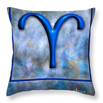 Aries  Throw Pillow by Mauro Celotti
