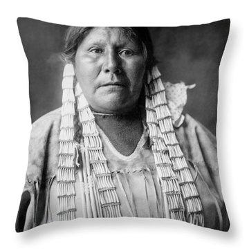 Arikara Woman Circa 1908 Throw Pillow