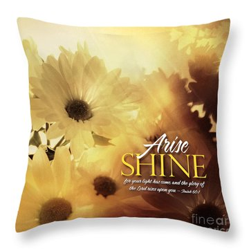 Arise Shine Throw Pillow by Shevon Johnson