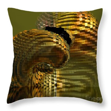 Arisen From The Depths Throw Pillow by Deborah Benoit