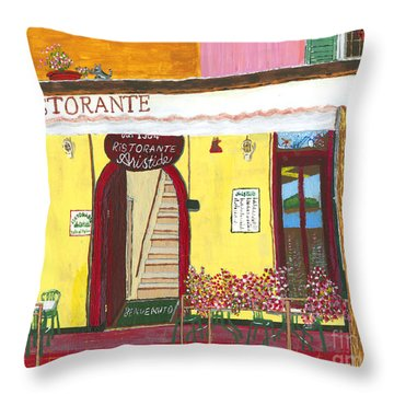 Aristede In Cinque Terra Throw Pillow
