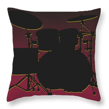 Arizona Cardinals Drum Set Throw Pillow by Joe Hamilton