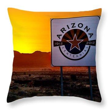Arizona Centennial Throw Pillow